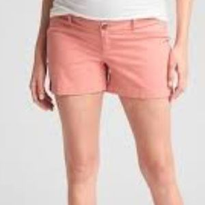 Gap Maternity Shorts potpourri pink Inset Panel